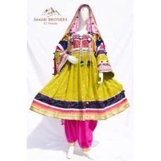 Afghan Tribal Antique Vintage dresses # 888