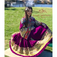 Afghan Traditional Old Style Dresses # 504