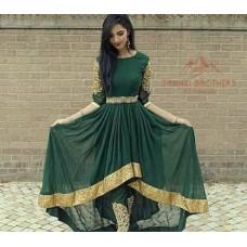 Afghani Clothes Green Dresses # 518