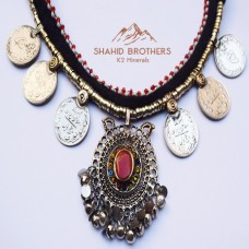 AFGHAN ANTIQUE TRIBAL ETHNIC NECKLACE # 1224B