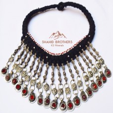 afghan tribal vintage old coins necklace # 1232