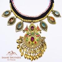 afghan kuchi pendant vintage necklace # 1242