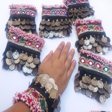 3 layer coins afghan kuchi tribal bracelet # 904