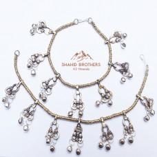 Belly Dance Vintage Silver Bells Anklet # 1077