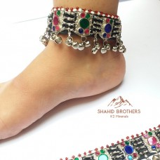 Afghan kuchi tribal vintage anklet-956