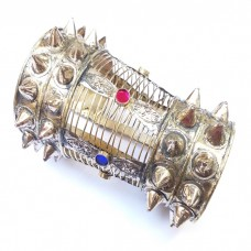 Afghan tribal kandiya half arm bracelet with spikes # 362
