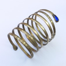 Afghan kuchi golden spring shape Bracelet # 683