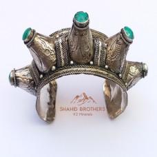 Afghan vintage kuchi spikes tribal bracelet # 656
