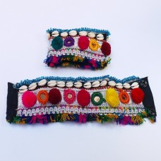 Afghan cloth tribal cuff bracelet-990