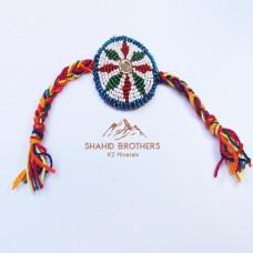 Afghan tribal thread and beaded bracelet # 804