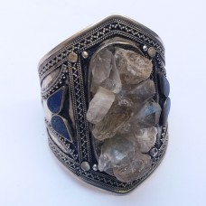 Afghan jeweellery real topaz and lapis stone bracelet # 1124
