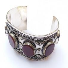 Afghan Tribal Brown stone Vintage style Cuff Bracelet # 337