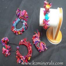 Adjustable Velvet Beads Bracelet-566