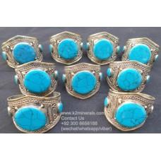 Afghani Tribal Bracelet with gemstone # 621