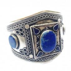 Handmade Antique lapis Cuff/ Bracelet # 359