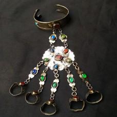 gypsy dance turkmen style vintage bracelet # 1036