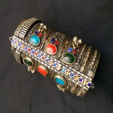 Afghan Tribal Antique Beaded Vintage Bracelet-1040
