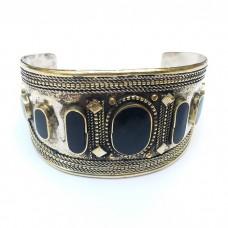 Vintage kuchi afghan tribal cuff bracelet # 1016