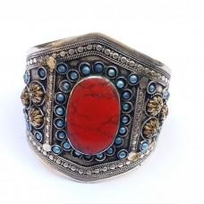 Tribal Antique Vintage Red stone Bracelet # 1053