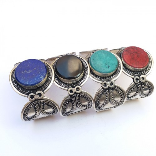Kuchi tribal 4 different stone bracelet # 296