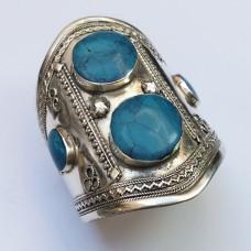 Trukamni Turquoise Stone Tribal Bracelet-407