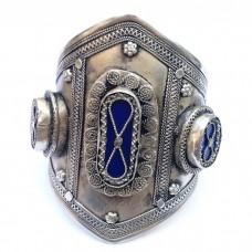 Butterfly Lapis stone long cuff Tribal Bracelet # 557