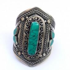 Afghani Tribal Bracelet with turquoise gemstone # 623