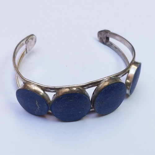 Afghani Tribal Antique Lapis Vintage Adjustable Bracelet-699