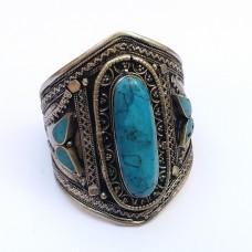 Kuchi tribal  bracelet with turquoise stones-78