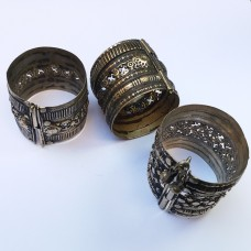 Tribal afghan pin lock short cuff bracelet # 951