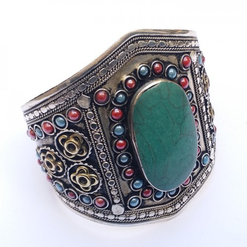 Afghani Tribal Antique Vintage Cuff Bracelet-1147