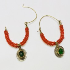 Afghan Tribal Beaded Coins Earring # 1171