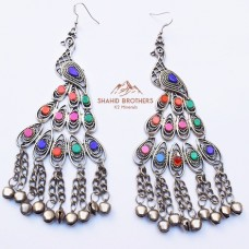 Afghan Tribal Bird Shaped Earring # 1221