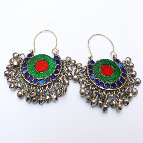 Afghan Authentic Traditional Long Drop Dangle Earrings-1062