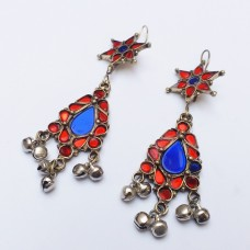Afghan Earrings Kuchi Tribal Jewellery earring # 1090