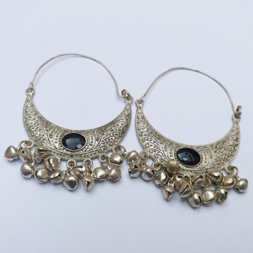 Gypsy Style tribal Moon earring-396