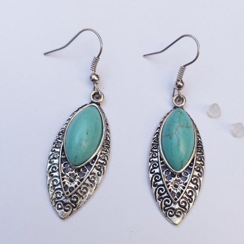 Kuchi Tribal german silver Earring-730