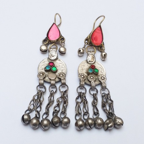 Afghan Dongal antique coin drop Earrings-843