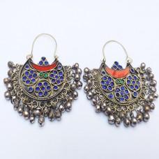 Afghan Tribal Antique Design Earrings # 858