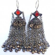 Afghan Tribal drop Earrings # 912