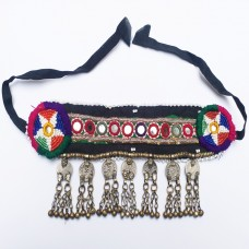 Banjara tribal headdress with coin and bells-240