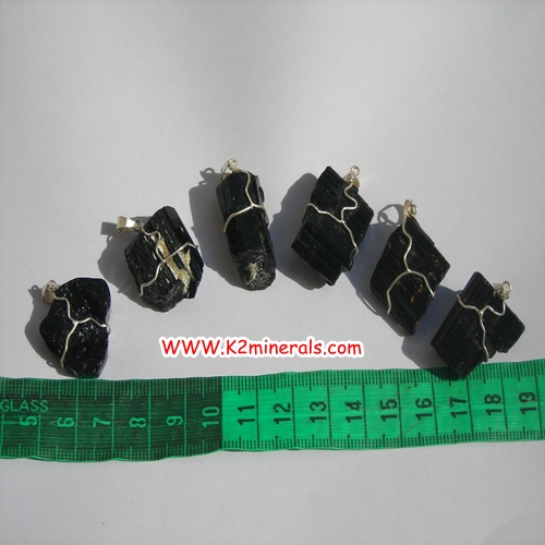 black tourmaline pendants-438
