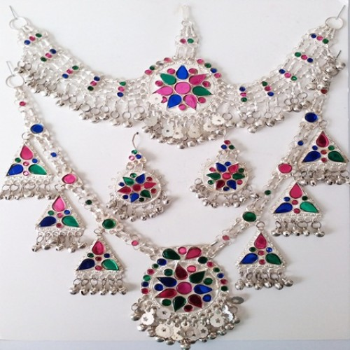 afghan jewellery necklace set-1099