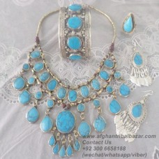Turquoise kuchi tribal jewelry set-23