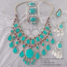 Afghan Tribal Vintage jewellery set-39