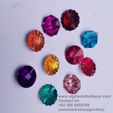 afghan Tribal Kuchi crystal buttons-84