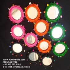 afghan handmade thread mirror-978