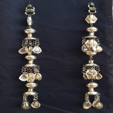 vintage tribal afghan Turkmen Tribal Jewelry Silver Pendant-1078