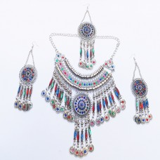 Tibetan jewellery Three piece necklace set-1071