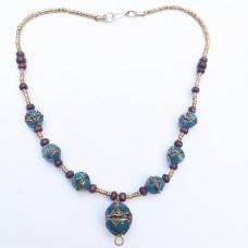 Kuchi Tribal antique golden necklace-212